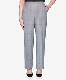 Women's Plus Size Madison Avenue Plaid Proportioned Medium Pant