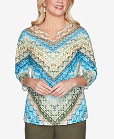 Women's Plus Size Colorado Springs Chevron Top