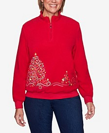Women's Plus Size Classics Tree Embroidered Pullover Top