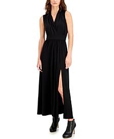 Petite Side-Slit Maxi Dress