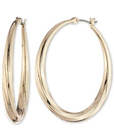 Gold-Tone Medium Hoop Earrings, 1.2""