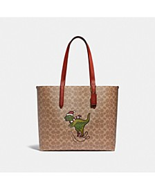 Coated Canvas Signature Rexy Highline Tote