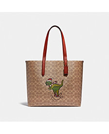 COACH Coated Canvas Signature Rexy Highline Tote