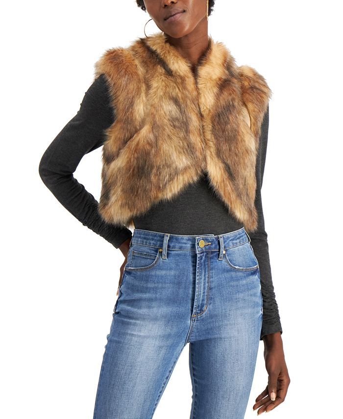 INC International Concepts - Faux-Fur Shrug