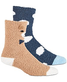 Women's 2-Pk. Bear & Dot Super Soft Cozy Socks, Created for Macy's