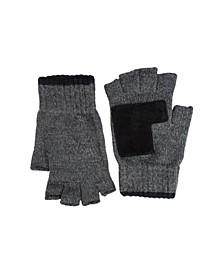 Men's Classic Fingerless Marled Knit Gloves