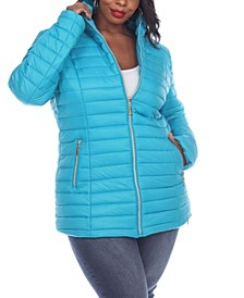 Women's Plus Size Puffer Coat