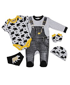 Baby Boys Forest Bear Footie 5 Piece Layette Gift Set