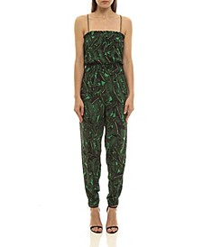 Women's Tropical Leaf Jumpsuit