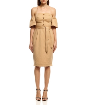 Women's Shoulder to Shoulder Twill Dress