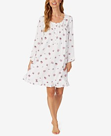 Floral-Print Cotton Jersey Nightgown