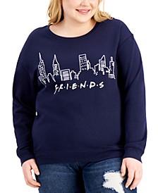 Trendy Plus Size Friends Graphic Print Sweatshirt
