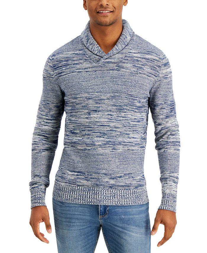 Sun + Stone - Colorblocked Shawl-Collar Sweater