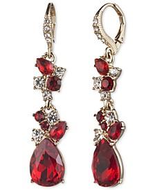 Crystal Stone Double Drop Earrings