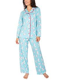 Candy Cane Kittens Pajama Set