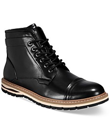 Men's Travis Cap-Toe Lace-Up Boots, Created for Macy's