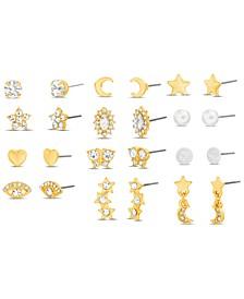 Gold-Tone 12-Pc. Set Stud Earrings