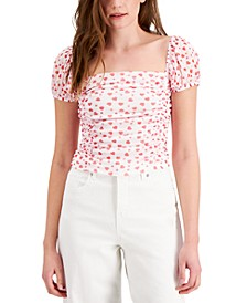 Heart-Print Crop Top, Created for Macy's