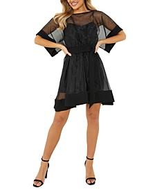 Organza Fit & Flare Dress