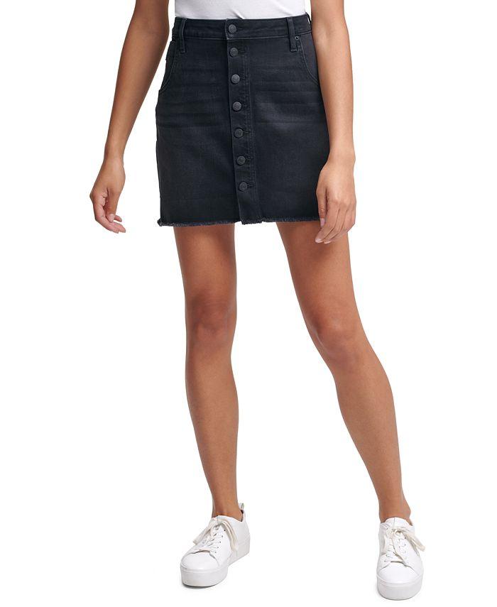 Calvin Klein Jeans - Button-Front Denim Skirt