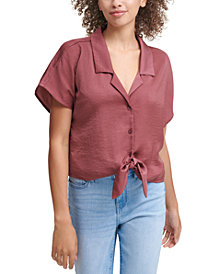 Calvin Klein Jeans Tie Front Top