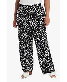 Plus Size Printed Pull On Pants