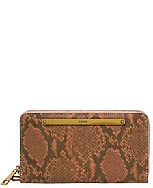 Women's Liza Leather Zip Around Wallet Wristlet