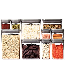 Steel Pop 12-Pc. Food Storage Container Set with Scoop & Labels