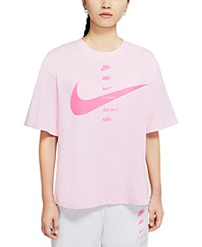 Women's Sportswear Cotton Swoosh T-Shirt