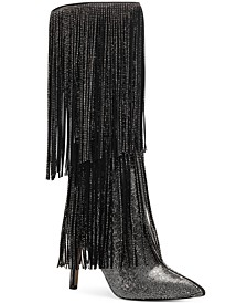INC Ishani Fringe Boots, Created for Macy's