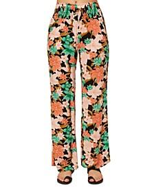 Juniors' Johnny Oasis Floral-Print Pants