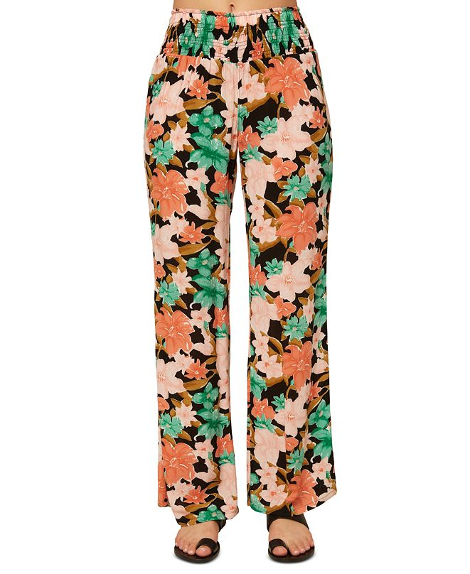 O'Neill Juniors' Johnny Oasis Floral-Print Pants