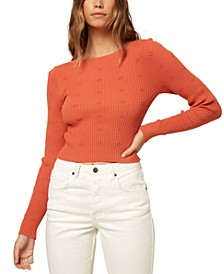Juniors' Sylvia Embroidered Sweater
