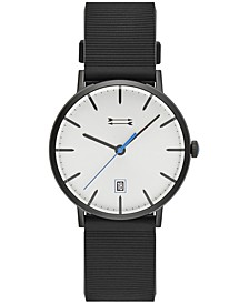 Men's Norrbro Black Silicone Strap Watch 40mm