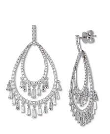 Diamond Chandelier Drop Earrings (3-1/2 ct. t.w.) in 14k White Gold