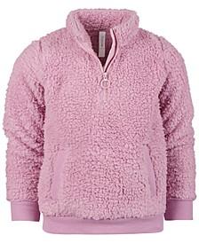 Little Girls Sherpa Quarter-Zip Jacket, Created for Macy's