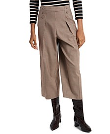 Sydney Mini-Check Culottes, Created for Macy's