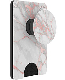 Marble-Print Cell Phone Wallet
