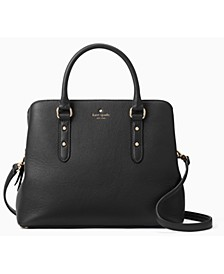 Larchmont Avenue Evangelie Leather Satchel
