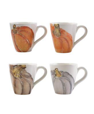 Pumpkins Assorted Mugs - Set of 4
