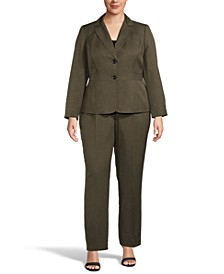 Plus Size Two-Button Pant Suit