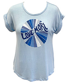 Style & Co Plus Size Love More Graphic T-Shirt, Created for Macy's