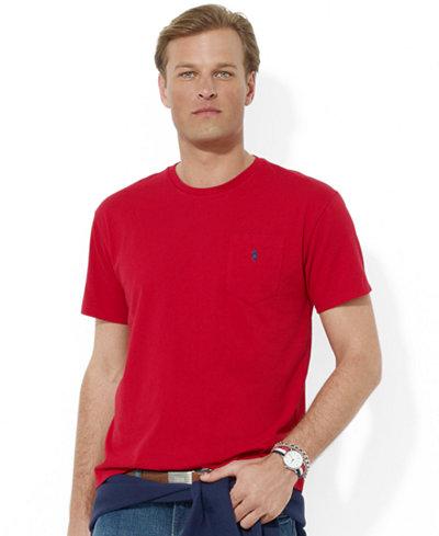 polo ralph lauren men 39 s t shirt core standard fit polo pocket tee shirt t shirts men macy 39 s. Black Bedroom Furniture Sets. Home Design Ideas