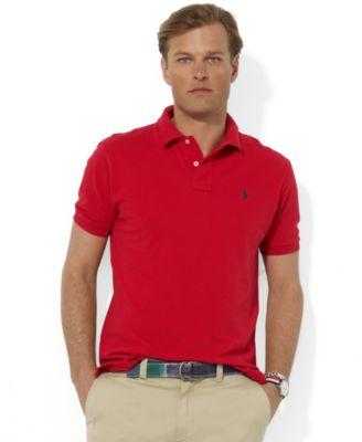... Ralph Lauren Long Sleeved Red Soft Mesh Men Polo ...