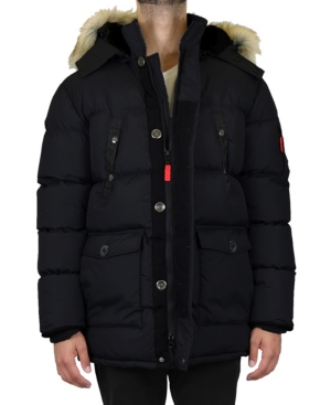 Men's Heavyweight Parka Jacket with Detachable Hood
