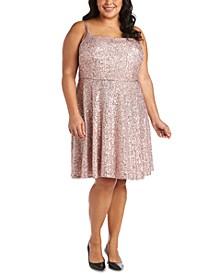 Trendy Plus Size Sequinned Skater Dress