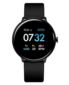 Men's Sport's Black Silicone Strap Smart Watch 43.2mm