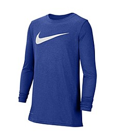 Big Boys Dri-fit Long-Sleeve Training T-shirt