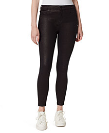 William Rast High-Rise Skinny Ankle Sparkle Jeans