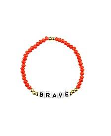 Brave 18k Gold Plated Crystal Bracelet